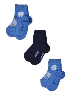Носки Детские,комплект 3шт Malerba. Цвет: синий