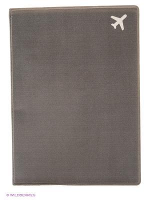 Обложка для паспорта Самолет (серая) Kawaii Factory. Цвет: серый