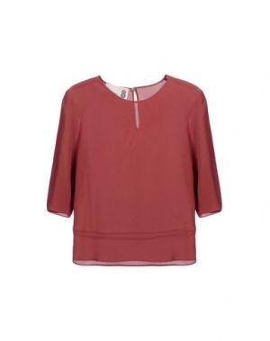 Блузка 8. Цвет: красно-коричневый