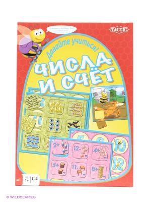 Настольная игра Учим цифры Tactic Games. Цвет: желтый