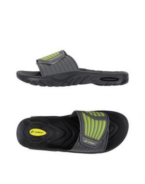 Домашние туфли RIDER. Цвет: кислотно-зеленый