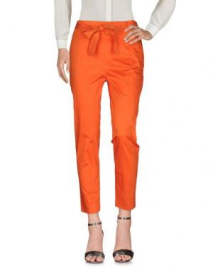 Повседневные брюки PURIFICACION GARCIA. Цвет: оранжевый