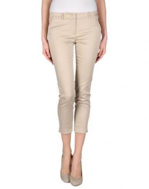 Джинсовые брюки TWELVE-T. Цвет: бежевый