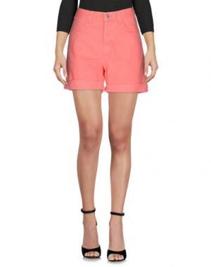 Джинсовые шорты J BRAND. Цвет: коралловый