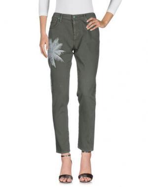 Джинсовые брюки SANDRINE ROSE. Цвет: зеленый-милитари
