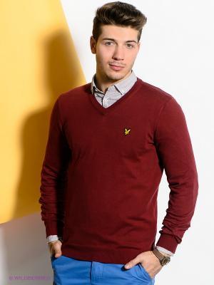 Пуловер Lyle&Scott. Цвет: бордовый