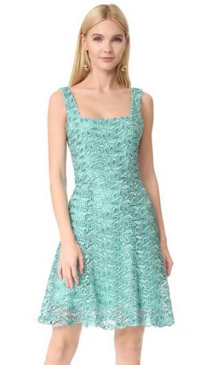Платье-трапеция Monique Lhuillier. Цвет: аквамарин