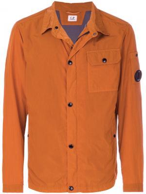 Куртка Overshirt CP Company. Цвет: жёлтый и оранжевый