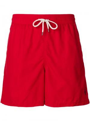 Embroidered logo swim shorts Polo Ralph Lauren. Цвет: красный
