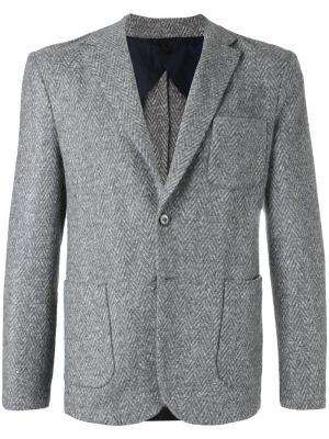 Классический пиджак Estnation. Цвет: белый