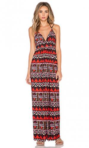 Макси платье с завязкой сзади T-Bags LosAngeles. Цвет: черный