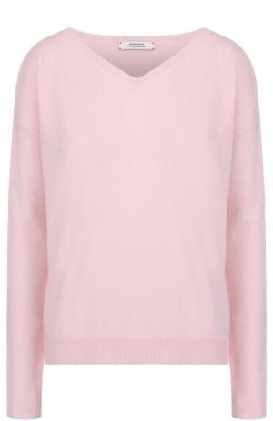 Кашемировый пуловер свободного кроя с V-образным вырезом Dorothee Schumacher. Цвет: светло-розовый