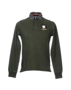 Поло ITALIAN RUGBY STYLE. Цвет: зеленый-милитари