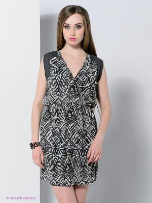 Платье Vila. Цвет: темно-серый, светло-серый, хаки