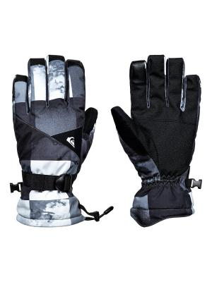 Перчатки Quiksilver. Цвет: белый, серебристый, серый