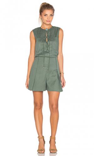 Ромпер sleeveless lace up DEREK LAM 10 CROSBY. Цвет: зеленый