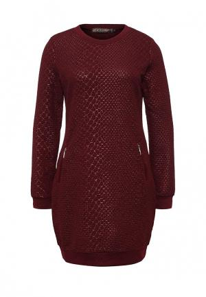 Платье QED London. Цвет: бордовый