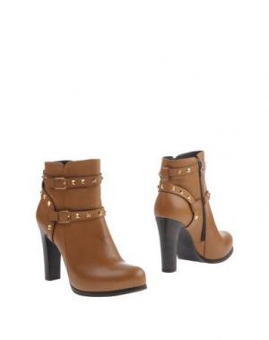 Полусапоги и высокие ботинки EMANUELA PASSERI. Цвет: верблюжий