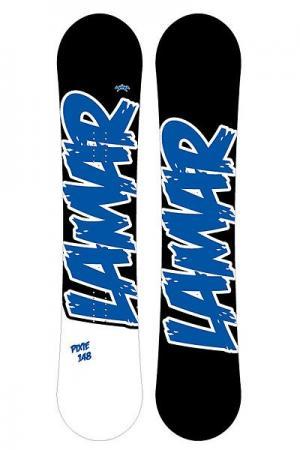 Сноуборд  Icu Anti Cam 158 Black Lamar. Цвет: черный,белый,синий