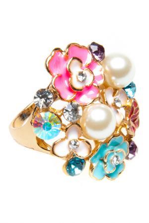 Кольцо BELLA ROSA. Цвет: multicolor