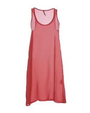 Платье до колена LIVIANA CONTI. Цвет: кирпично-красный