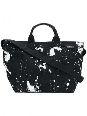 Массивная сумка-тоут с принтом разбрызганной краски 3.1 Phillip Lim. Цвет: чёрный