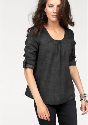 Блузка Aniston. Цвет: черный