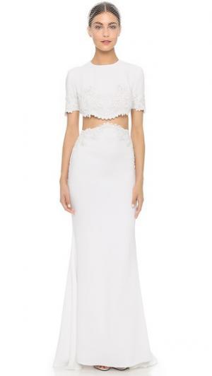 Двойное вечернее платье Im Chic Reem Acra. Цвет: белый