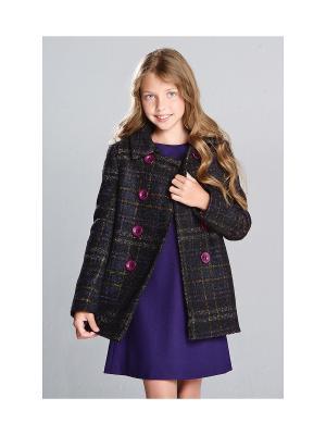 Двубортное пальто MORU. Цвет: темно-фиолетовый
