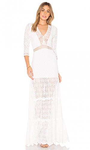 Вечернее платье hazel Nightcap. Цвет: белый