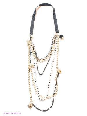 Колье Milana Style. Цвет: черный, золотистый, белый