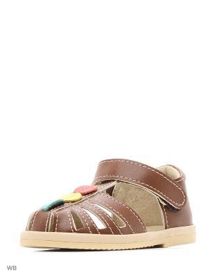 Туфли ясельные ФОМА. Цвет: темно-коричневый