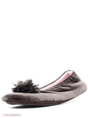 Тапочки Isotoner. Цвет: темно-коричневый
