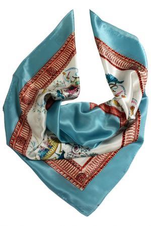 Шелковый платок SHALBE. Цвет: голубой