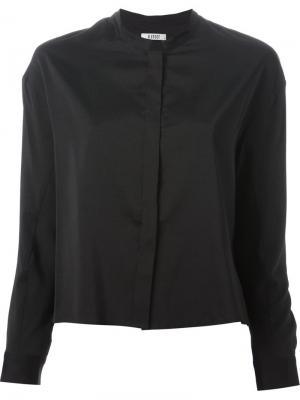 Рубашка с потайной застежкой D.Efect. Цвет: чёрный