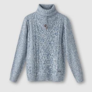 Пуловер с высоким воротником PETROL INDUSTRIES. Цвет: экрю меланж