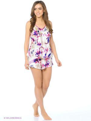 Пижама Del Fiore. Цвет: белый, фиолетовый