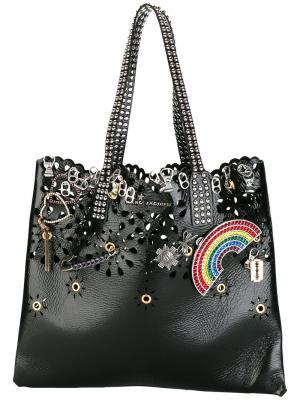 Декорированная сумка на плечо Wingman Marc Jacobs. Цвет: чёрный