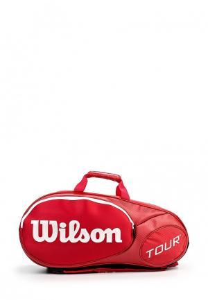 Чехол для ракеток Wilson. Цвет: красный