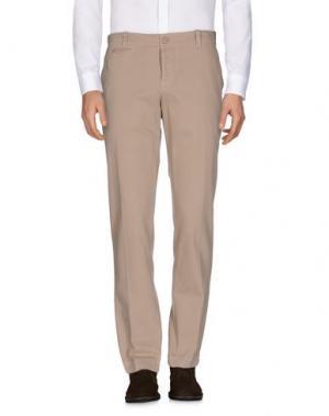 Повседневные брюки DONDUP. Цвет: бежевый