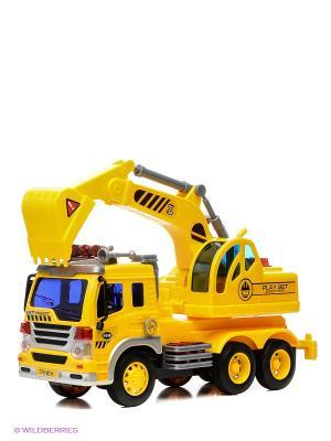 Грузовик с экскаватором Drift. Цвет: желтый
