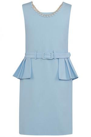Платье Perlitta. Цвет: голубой