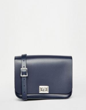 Leather Satchel Company Сумка Pixie. Цвет: синий