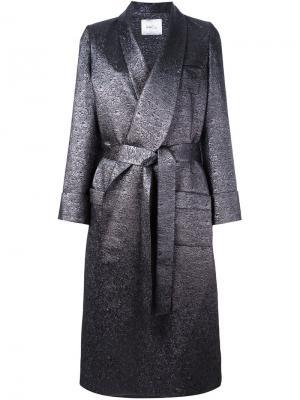 Длинное пальто с поясом Racil. Цвет: серый