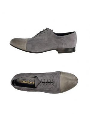 Обувь на шнурках LE QARANT. Цвет: серый