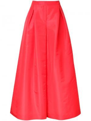 Широкие брюки-палаццо Carolina Herrera. Цвет: красный