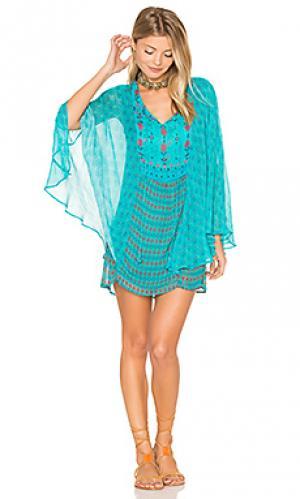 Платье sanya Tolani. Цвет: бирюзовый