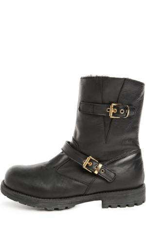 Кожаные ботинки с ремешками Zecchino d'Oro. Цвет: черный