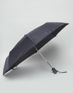 Fulton Зонт с принтом Hoxton. Цвет: черный