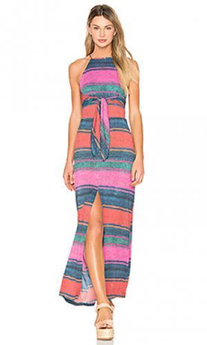 Mesh long dress AGUADECOCO. Цвет: розовый